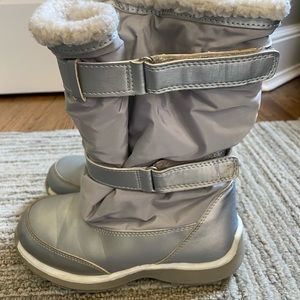 Lands End warm snow boots girls size 13